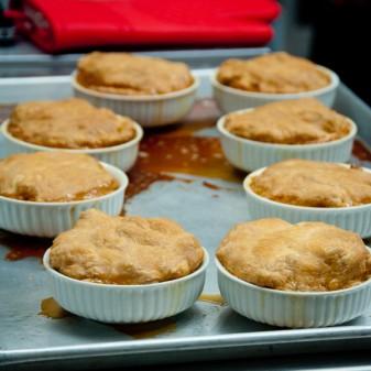 Baked tartes tatins at Sandrine Pastry on eatlivetravelwrite.com