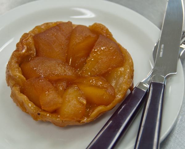 Plated tarte tatin at Sandrine Pastry class in Kelowna on eatlivetravelwrite.com