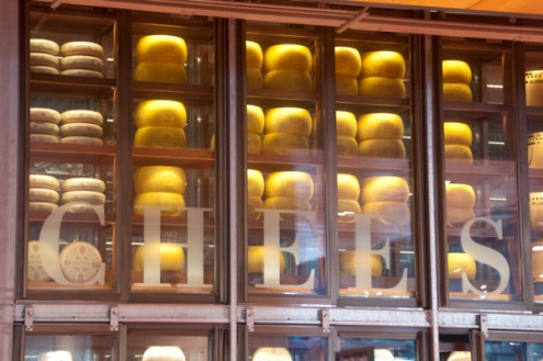 Wall of cheese at Loblwas Carlton St on eatlivetravelwrite.com