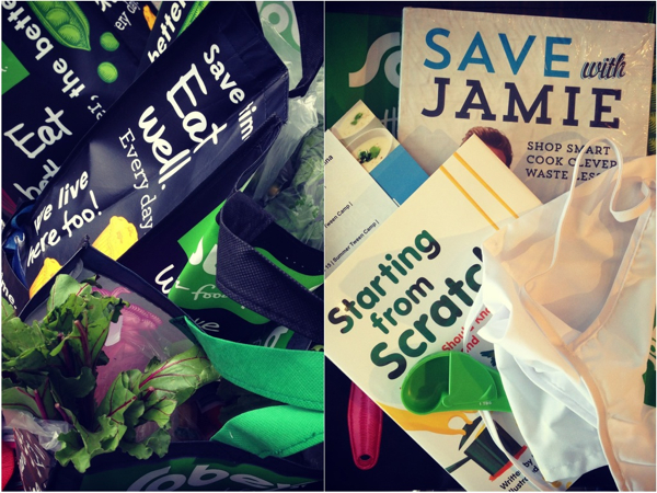 Food Revolution Day swag bags on eatlivetravelwrite.com