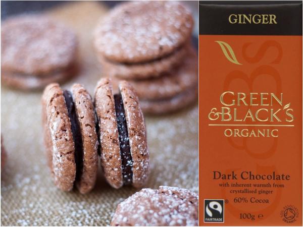 Green and Blacks ginger macarons de Nancy