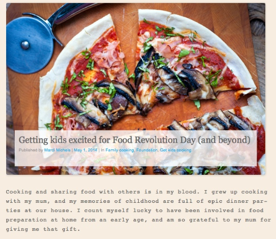 Getting kids excited about food for Food Revolution Day and beyond by Mardi Michels on JamieOliver.Com