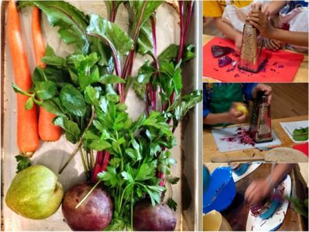 Kids making Jamie Oliver rainbow wraps FRD2014 on eatlivetravelwrite.com