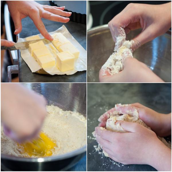 Kids making shortcrust pastry for quiche on eatlivetravelwrite.com