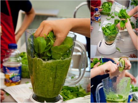 Making green smoothies on eatlivetravelwrite.com