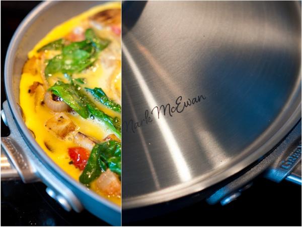 Making omelette in McEwan by GreenPan 9inch hard anodized fryingpan on eatlivetravelwrite.com