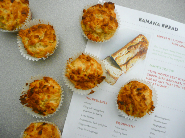 Jamie Oliver banana bread muffins on eatlivetravelwrite.com