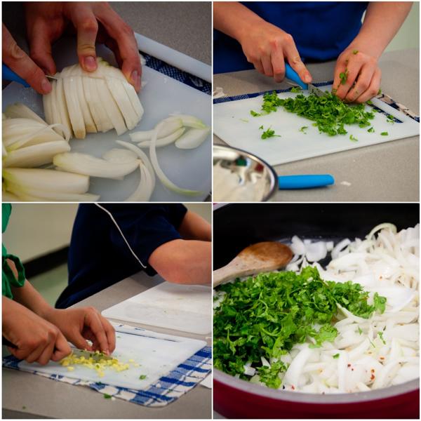 Prepping chicken tikka masala on eatlivetravelwrite.com