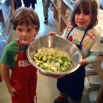 Chopped veggies for Jamie Oliver garden glut soup on eatlivetravelwrite.com