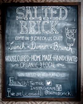 Salted Brick Kelowna menu on eatlivetravelwrite.com