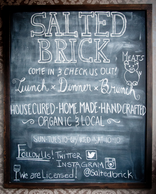 Salted Brick Kelowna menu on eatlivetravelwrite.com