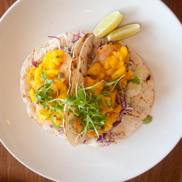 Shrimp taco at SmackDabManteo on eatlivetravelwrite.com