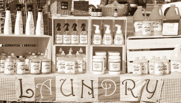 Laundry products at the Kelowna Farmers and Crafters Market on eatlivetravelwrite.com