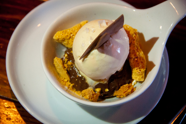 Ice cream honeycomb at Raudz Kelowna on eatlivetravelwrite.com