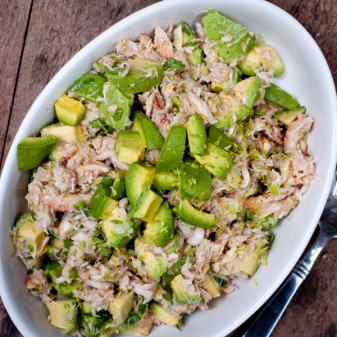 Dorie Greenspan crab and avocado salad from Around my French Table on eatlivetravelwrite.com
