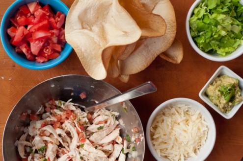 Chicken taco salad bowls on eatlivetravelwrite.com