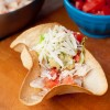 Easy chicken taco salad bowls on eatlivetravelwrite.com