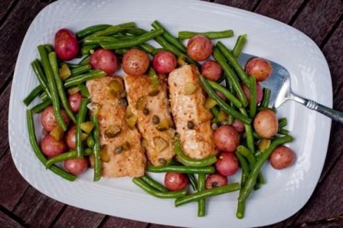 Dorie Greenspan fish with cornichon and caper sauce on eatlivetravelwrite.com