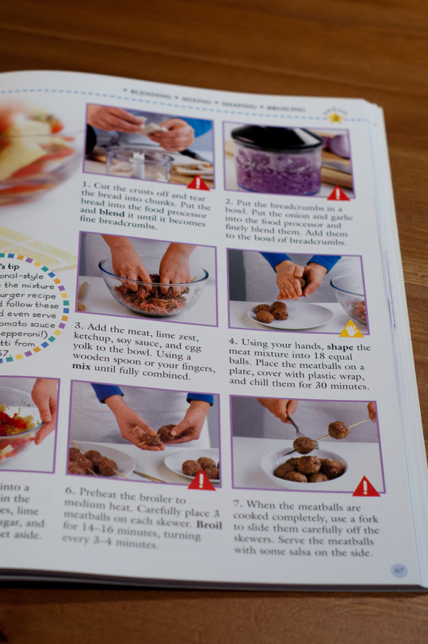 Showing technique for falafel making in The DK Children's Cookbook on eatlivetravelwrite.com