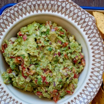 Dorie Greenspan chunky guacamole on eatlivetravelwrite.com