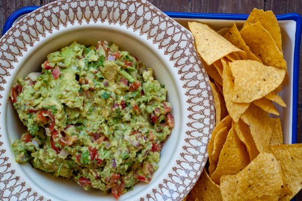 Chunky guacamole from Around my French Table on eatlivetravelwrite.com