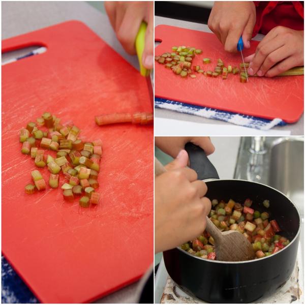 Making stewed rhubarb on eatlivetravelwrite.com
