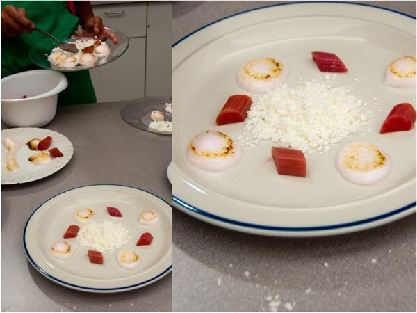 Plating rhubarb in textures on eatlivetravelwrite.com