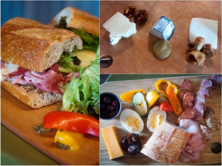 Shaing plates and sandwiches at The Salted Brick on eatlivetravelwrite.com