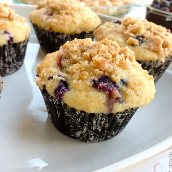 Berry Crumble Muffins from Butter Baked Goods on eatlivetravelwrite.com