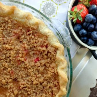 Sour cream rhubarb pie from Butter Baked Goods on eatlivetravelwrite.com