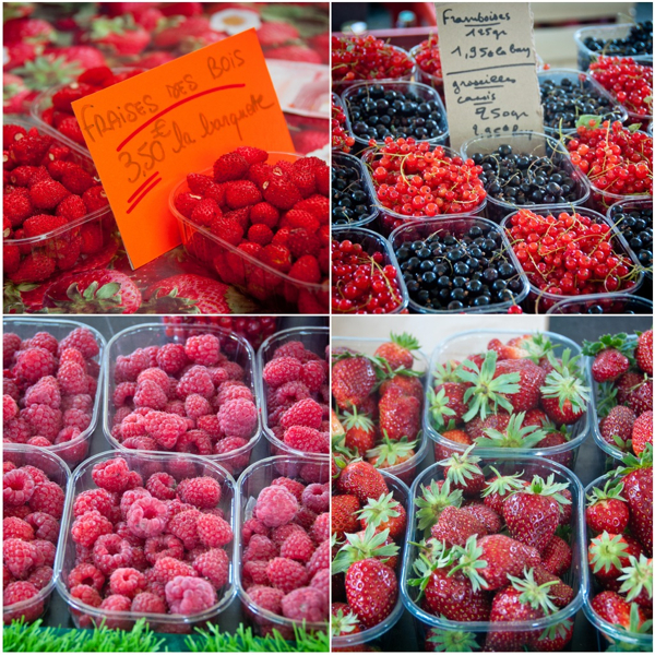 Berries and currants at Bayeux Market on eatlivetravelwrite.com