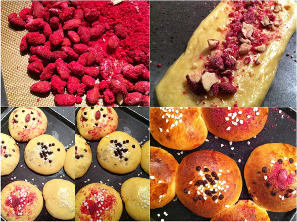 Brioches with pralines roses at La Cuisine Paris on eatlivetravelwrite.com