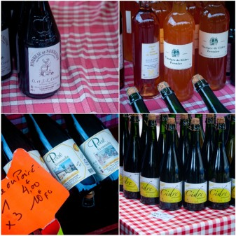 Ciders at the Bayeux market on eatlivetravelwrite.com