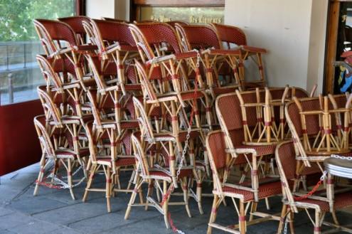 Paris cafe chairs on eatlivetravelwrite.com