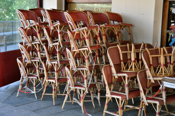 Paris cafe chairs on eatlivetravelwrite.com
