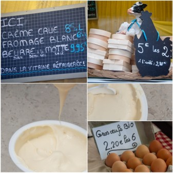 Dairy products and eggs at the Bayeux Market on eatlivetravelwrite.com