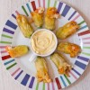 Dorie Greenspan shrimp stuffed zucchini blossoms on eatlivetravelwrite.com