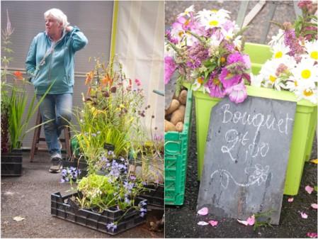 Flowers at the Bayeux Market on eatlivetravelwrite.com
