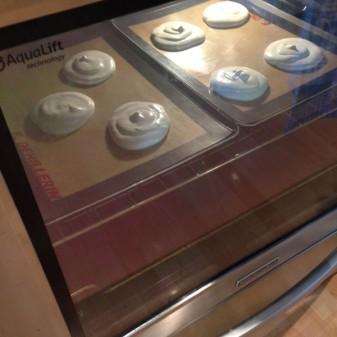 Mini pavlovas in a KitchenAid oven on eatlivetravelwrite.com