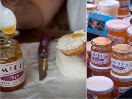 Normandy honey at Bayeux market on eatlivetravelwrite.com
