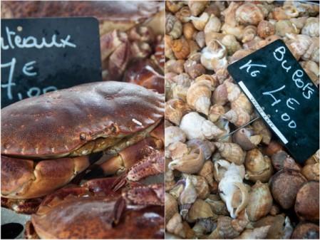 Seafood at Bayeux market on eatlivetravelwrite.com