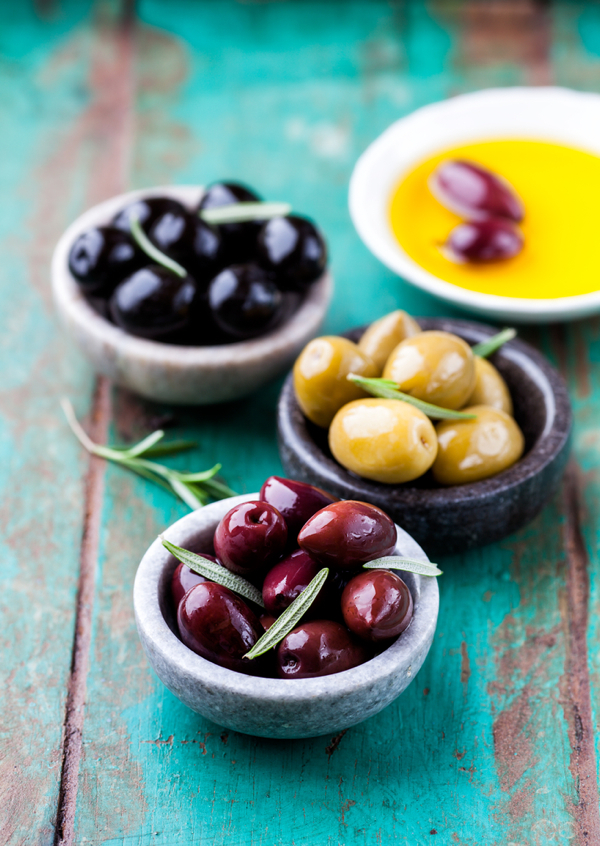 Olives in a bowl from Shutterstock on eatlivetravelwrite.com