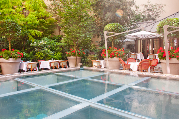 Courtyard in Le Royal Monceau Paris on eatlivetravelwrite.com