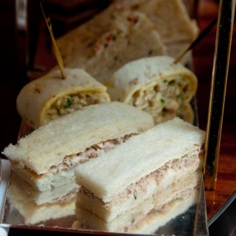 Savoury afternoon tea sandwiches at Le Royal Monceau Paris on eatlivetravelwrite.com