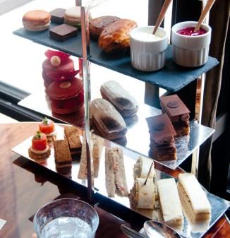 Afternoon tea tray at Le Royal Monceau Paris on eatlivetravelwrite.com