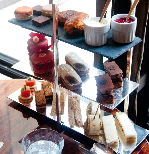 Afternoon tea tray at Le Royal Monceau Paris on eatlivetravelwrite.com