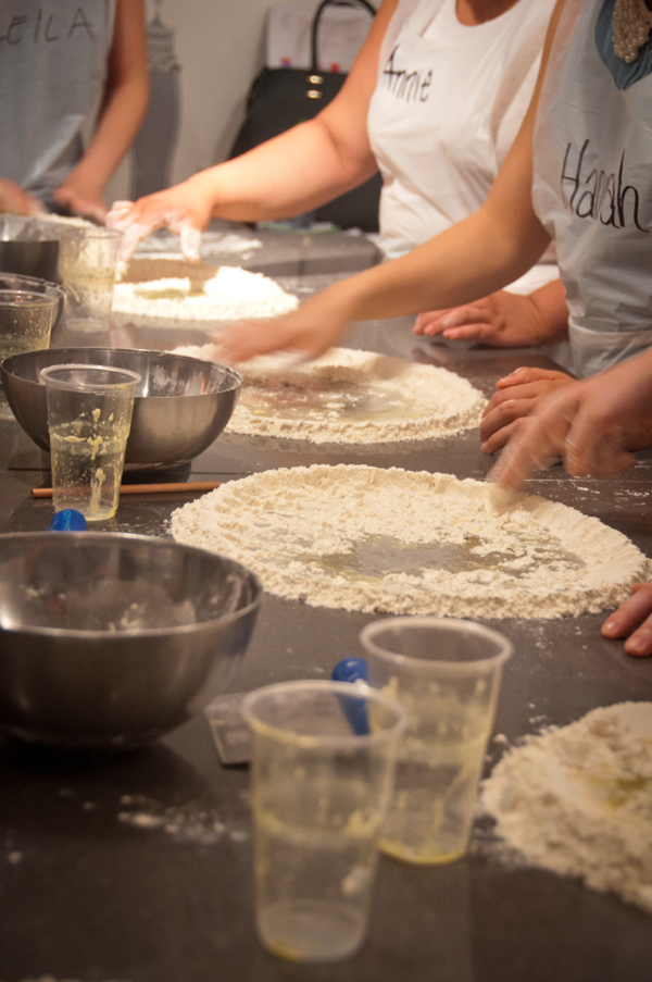 Starting the laminated dough at La Cuisine Paris on eatlivetravelwrite.com