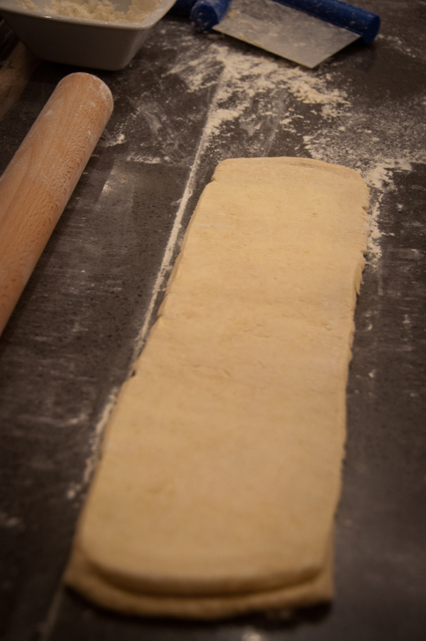 Laminating dough incorporating the butter at La Cuisine Paris on eatlivetravelwrite.com