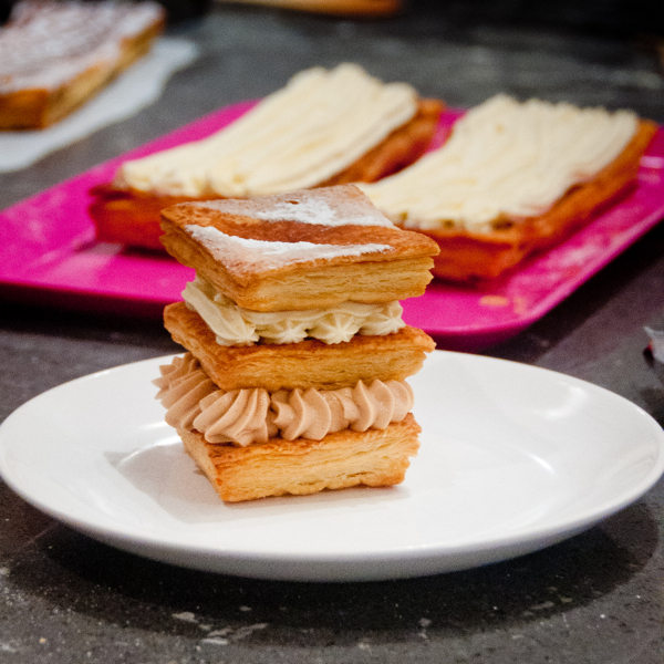 Completed mille feuille at La Cuisine Paris on eatlivetravelwrite.com
