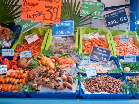 Seafood at the Aligre Market on Context Paris Aligre market tour on eatlivetravelwrite.com